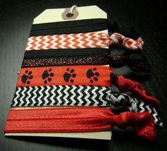 Georgia Bulldogs / Northern Illinois Huskies / LaGrange Panthers Hair Ties ... 6ct. on Etsy, $10.00