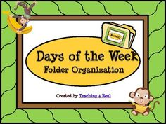 $1.50 Classroom Organization....a must for all teachers!Organize your daily materials easily with these monkey themed