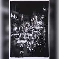 Comus Parade in the French Quarter Mardi Gras Night #1. 1969 Gelatin Silver Print. 16 x 20 in. Signed Titled au recto. 1 of over 100 pieces available as part of Michael P. Smith - Follow The Music on display at Scott Edwards Gallery through June 12th.  #thisisnola #itsyournola #AlwaysNewOrleans #showmeyournola #followthemusic #followyournola #neworleans #visitneworleans #frenchmen #nojazzfest #frenchquarter #michaelpsmith #comus  Photo by Michael P. Smith  The Historic New Orleans Collection…