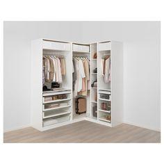 IKEA – PAX white Corner wardrobe Frame colour: white, Reinsvoll Source by Ikea Pax Corner Wardrobe, Corner Closet, Front Closet, Ikea Closet, Open Wardrobe, Wardrobe Storage, Bedroom Closet Design, Ikea Bedroom, Bedroom Wardrobe