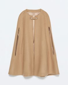 BUTTONED CAPE COAT - Outerwear - Woman - COLLECTION SS15 | ZARA United States $189