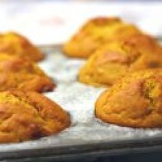 Pumpkin Muffins with Candied Ginger