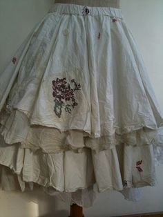 The delicate embroidery adds to the sweetness of these skirts.