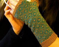 Subtle charm and Fair Isle knitting combine to form the lovely Endpaper Mitts. Knit your own pair today!