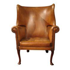 knollwood antiques llc - 1800s english barrel wingback chair