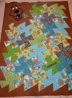 Scooby Doo quilt Twister Ruler Quilt Custom kids quilt