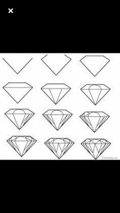 how to draw a gemstone