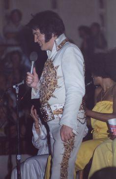 Elvis Presley on Tour ....June 1, 1977. Macon, GA.