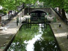 Canal St. Martin in 10th Arrondisement in Paris France, Paris, Outdoor Decor, Travel, Montmartre Paris, Viajes, Paris France, Destinations, Traveling