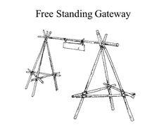 Pionierleistungen Pfadfinder Free Standing Gateway - camping tips - Lager