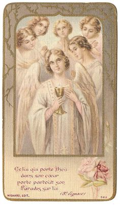 Beautiful Angels with Communion Chalice & Pink by 12StarsVintage