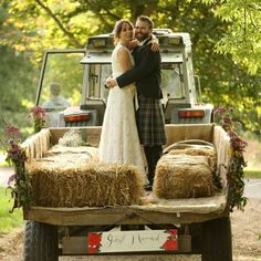 Love this pair of newlyweds choice of transport! A rustic romantic wedding day at Scottish venue Kelburn Castle and Country Estate in Ayrshire. Wedding Venues, Wedding Day, Country Estate, Just Married, Newlyweds, Beautiful Bride, Bride Groom, Scotland, Castle