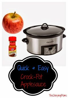 Quick & Easy Applesauce Recipe Idea.  Fun to Make with Kids!
