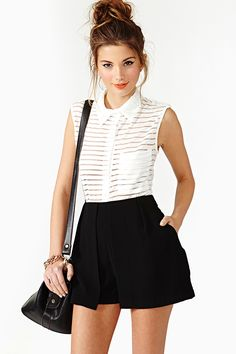 Darcel Pleated Shorts