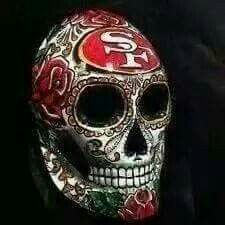 Skully Nfl 49ers, 49ers Fans, Pink Nation Wallpaper, Niners Girl, 49ers Pictures, Panda Coloring Pages, Forty Niners, Patrick Willis, Football Memes