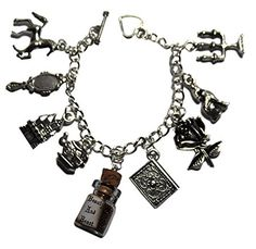 6d1ad84a4 Amazon.com: Disney's Beauty and The Beast Silvertone Metal Charm Bracelet:  Everything Else. Tale As Old As TimeDisney ...