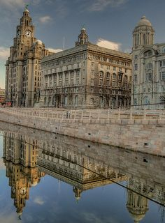 Liverpool Pier Head Buildings , Liverpool, England.  HDR | Flickr