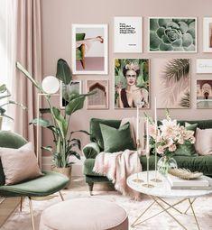 Living Room Green, Home Living Room, Living Room Designs, Living Room Decor, Living Room Colors, Diy Bedroom Decor, Wall Decor, Home Decor, Wall Art