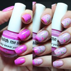 """swatch of """"Pinky Swear your a Star"""" by Polish Me Silly, a gorgeous thermal polish that is pink when cold, and a baby pink (sometimes white) when warm. -- Instagram@armstrongnails  -- Click on picture to be taken to the Etsy store where you can purchase this polish and more like it."""