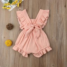 Ruffle Cotton Rompers Hot play Party Gift Kids Jumpsuit Outfits Cute Baby Clothes Baby Club – online baby clothes stores where you can find fashionable baby clothes. There is a kid and baby style here. Cute Baby Dresses, Cute Baby Girl Outfits, Girls Summer Outfits, Baby Girl Romper, Cute Baby Clothes, Summer Girls, Summer Days, Baby Summer Clothes, Babies Clothes
