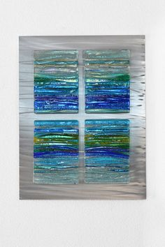 Contemporary art glass sculptures - lots of glass panels - great narrative on bio too*** Glass Wall Art, Fused Glass Art, Stained Glass Art, Mosaic Glass, Window Glass, Glass Partition, Dichroic Glass, Glass Door, Glass Fusion Ideas