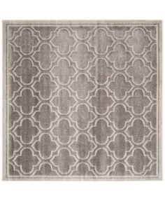 Safavieh Amherst Indoor/Outdoor AMT412C Grey/Light Grey 5' x 5' Square Area Rug