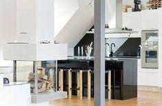 Moderne Dachwohnung Im Skandinavischen Stil #dachwohnung #moderne # Skandinavischen