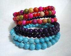 Stacked bracelet set of 3 magnesite bracelet by EmsSparklinGems, $29.00
