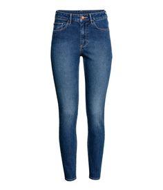 Skinny High Ankle Jeans   Dark denim blue   LADIES   H&M AE