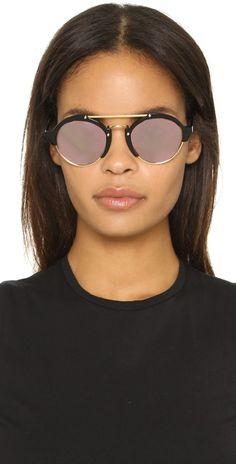 Illesteva Milan II Mirrored Sunglasses.