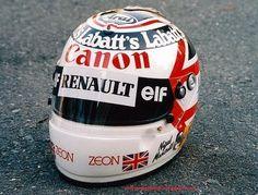 Nigel Mansell crash helmet #F1 #Formula1 #FormulaOne