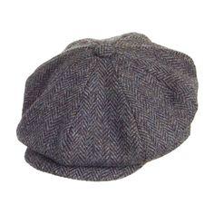 Failsworth Hats Harris Tweed Newsboy Cap - Grey Mix
