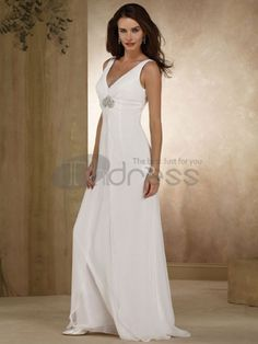A-line V-Neck Beaded Chiffon Destination Wedding Dress Wedding Dress Pictures, Wedding Dress Styles, Bridal Dresses, Dress Wedding, Bridesmaid Dress, Wedding Reception, Wedding Photos, Prom Dresses, Plain White Dress