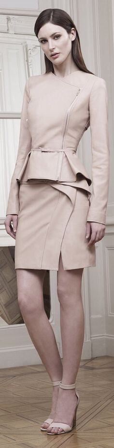 Elie Saab Resort 2015. Would be beautiful in white or grey. Don't love the Mary Kay Taupe color. Feel like I can smell it. Haha