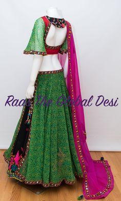 Chaniya choli 2018 Buy online beautiful designer collection -ghaghra choli navratri collection at best prices at RAAS THE GLOBAL DESI . Choli Designs, Lehenga Designs, Blouse Designs, Garba Dress, Navratri Dress, Chaniya Choli For Navratri, Choli Dress, Indian Wedding Outfits, Indian Outfits