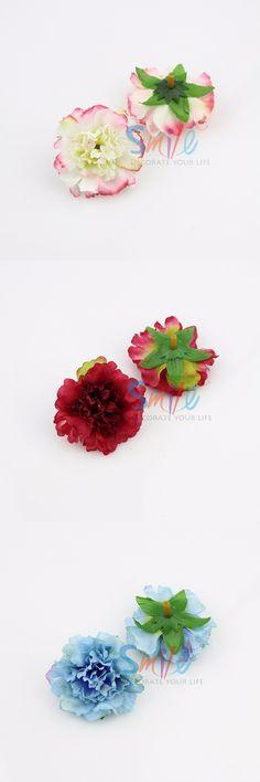50pcs/lot Approx 5cm Artificial carnation Flower Head Handmade Home Decoration DIY Event Party Supplies Wreaths