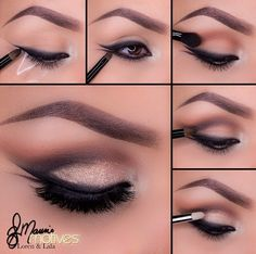Smudged double winged eyeliner tutorial