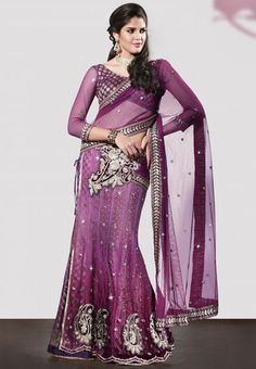 Purple Color Net 1 Minute Designer Saree : Divina Collection YF-23131