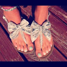 Sparkly bow shoes...I miss wearing sandals all the time.