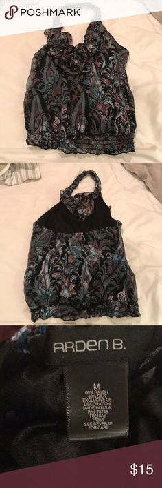 Arden b paisley halter top Preowned Size medium Arden b paisley top Arden B Tops