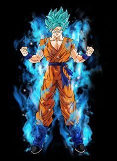 animé : Dragon Ball / Goku super saiyan blue by BardockSonic / http://bardocksonic.deviantart.com/art/Goku-super-saiyan-blue-566744344