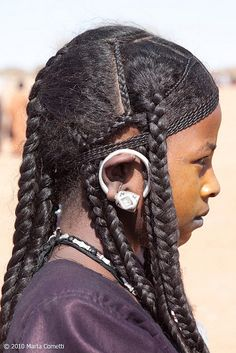 """maghrabiyya: """" let's just appreciate traditional tuareg hairstyles for a second my grandma occassionally rocked braids in the style of the top first picture """""""