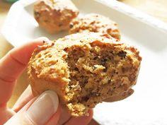 Meine vegane Müsli-Muffins kommen ohne Fett, ohne Ei und ohne Zucker aus! Soo lecker! Rundum gesunde Snacks für Schule, Picknick, Reise, Freizeit und Beruf.