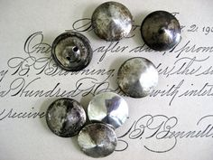 Seven silver buttons ~ vintage sterling silver from Mexico
