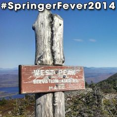 #SpringerFever2014 #AppalachianTrail #Trail #AT #BackpackingAT #Backpacking #Hiking #Hike #Latergram #WestPeak #Sign