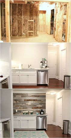 Basement transformation - How to install a barn wood wall at RefreshRestyle.com
