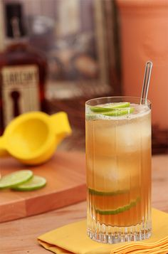 Autumn Bourbon Rickey with Maple Syrup