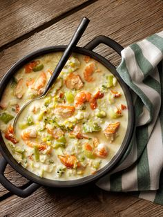 Belleau Kitchen's Hot Smoked Salmon and Leek Chowder