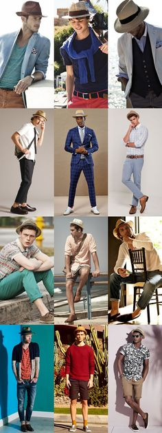 262a564407e2 2014 Men s Summer Hats  The Straw Fedora Lookbook Inspiration Teen Boy  Fashion