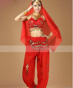 Newest Bollywood Indian Belly Dance Costumes for Women 6 Color Stage & Dance Wear #Affiliate